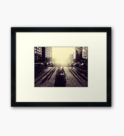 Sunset at Potsdamer Platz Framed Print