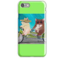 Tandem Hammies; a Tiny Bike Built for Two iPhone Case/Skin