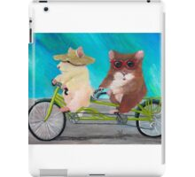 Tandem Hammies; a Tiny Bike Built for Two iPad Case/Skin