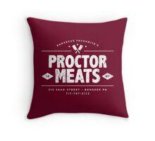 Proctor Meats (worn look) Throw Pillow