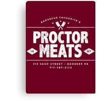Proctor Meats (worn look) Canvas Print