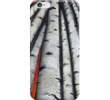 White Birch Forest Family iPhone Case/Skin