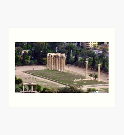 Temple of Zeus Art Print