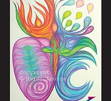 'Peace' as a print, original drawing 'Salvation' by heidilouise
