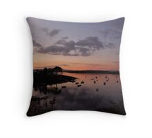 Colour and reflections - Baltimore Harbour, Ireland Throw Pillow