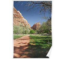 The Red Path - Zion, Utah USA Poster