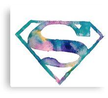 Watercolor Superman (white)  Canvas Print