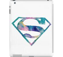 Watercolor Superman (white)  iPad Case/Skin