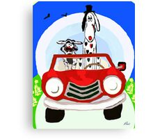 Party Animal on the road Canvas Print