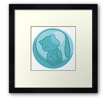 Shiny Mew In Bubble Framed Print