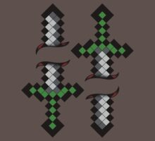 8 Bit Daggers - Tattoo Style by creepingdeath90