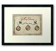 Christmas Baubles Framed Print