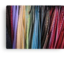 Oxford Street Scarves Canvas Print