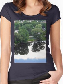 Trees in the Clouds Women's Fitted Scoop T-Shirt