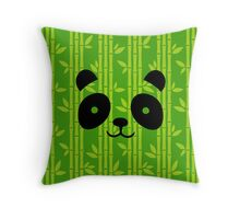 Panda Bamboo Camouflage Throw Pillow