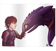 Hiccup & Toothless Poster
