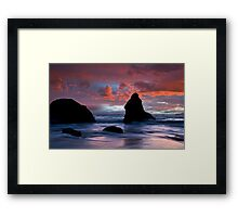 Stormy Pacific Framed Print