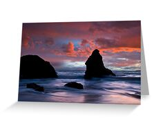 Stormy Pacific Greeting Card