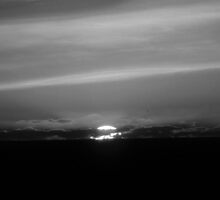 Red Sunset in B&W...Outside Newport, Ore...10-2010 by trueblvr