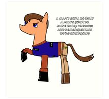 Nathan pony fillion Art Print