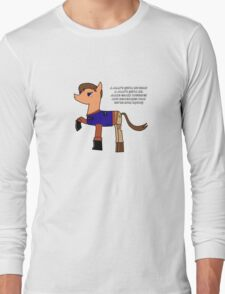 Nathan pony fillion Long Sleeve T-Shirt
