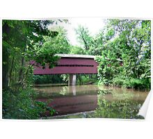 Sheeder-Hall (1850) - Full View Down Creek Poster