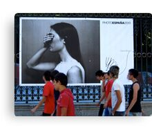 On the streets with Photo Espana 2010 Canvas Print