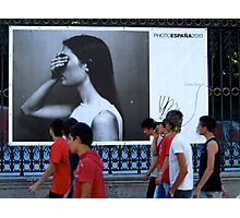 On the streets with Photo Espana 2010 Photographic Print