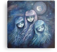 Sisters of the Moon Metal Print