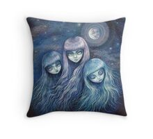 Sisters of the Moon Throw Pillow