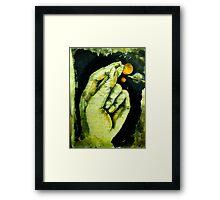 kubera mudra Framed Print