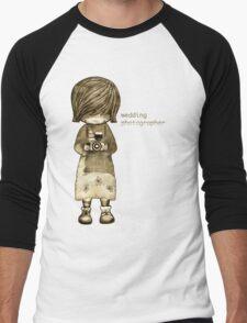smile baby wedding photographer  Men's Baseball ¾ T-Shirt