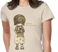 smile baby wedding photographer  Womens Fitted T-Shirt