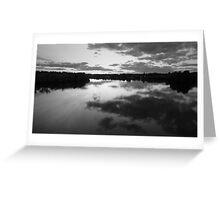 Black Landscape Greeting Card