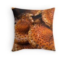 Frogskin Shrooms Throw Pillow