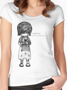 Smile Baby Wedding Photographer  Women's Fitted Scoop T-Shirt