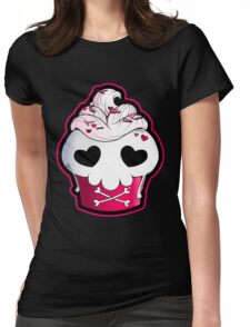 Skull Cupcake Womens Fitted T-Shirt