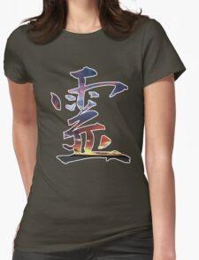 Spirit Kanji (Rei Japanese) Womens Fitted T-Shirt