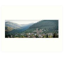 The hills of Sant Andrea Di Compito Art Print