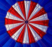 Red, White and Blue Hot Air Balloon by doorfrontphotos
