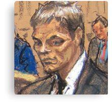 Tom Brady Courtroom Sketch Canvas Print