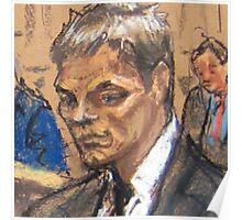 Tom Brady Courtroom Sketch Poster
