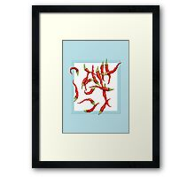 Red Hot Chillies blue Framed Print
