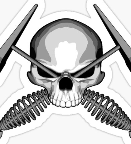 Skull and Welding Hammers Sticker