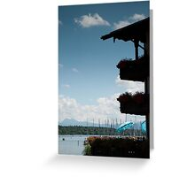 Balconies on Blue Greeting Card