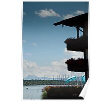 Balconies on Blue Poster