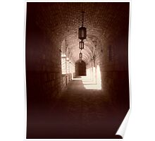Castle Passage in Sepia - Napa Valley, California Poster