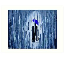 Lonely in the Rain Art Print