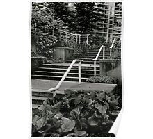 Concrete Stairs Poster
