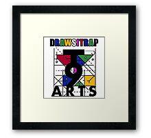 """DRAWSITRAP""The Message by tweek9arts - Black/White Colorway Framed Print"